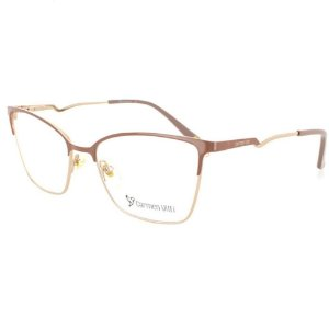 Óculos Armação Carmen Vitti CV0119 C3 Nude Metal Feminino