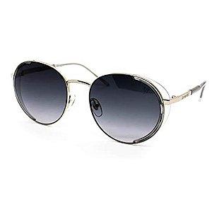 Óculos Solar Carmen Vitti CV7019 C3 Metal Prata Lente Cinza