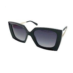 Óculos Solar Carmen Vitti CV7030 C1 Preto Acetato Feminino