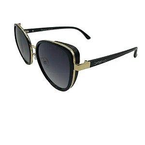 Óculos Solar Carmen Vitti CV7037 C1 Acetato Preto Feminino