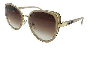 Óculos De Sol Carmen Vitti Cv7037 C3 Nude Lente  Degrade