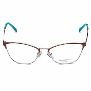 Óculos Armação Sabrina Sato SS315 C3 Marrom Metal Feminino
