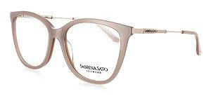 Óculos De Grau Sabrina Sato Dourado Nude Feminino  Ss124 C4
