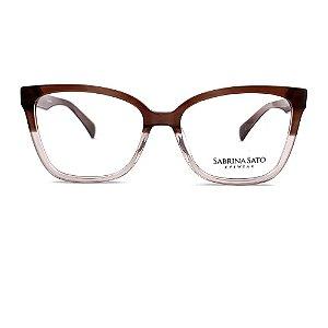 Óculos Armação Sabrina Sato SS135 C3 Marrom Degrade Feminino