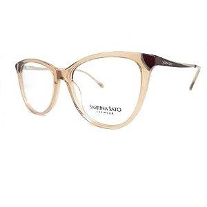 Óculos Armação Sabrina Sato SS108 C4 Marrom Translucido