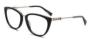 Óculos De Grau Colcci C6109 A34 53 Preto Dourado