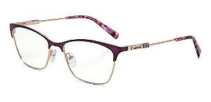 Óculos De Grau Colcci C6106c6952 Roxo Translucido Dourado