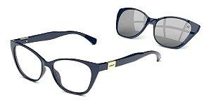 Óculos Armação 2 Em 1 Colcci Bandy 1 Feminino Azul Clip-on
