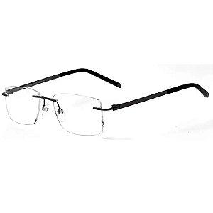 Óculos Armação T-Charge T1229 02A Metal Grafite Titanium