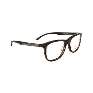 Óculos Armação T-Charge T6139 G21 Marrom Tartaruga Acetato
