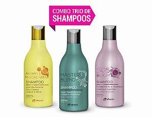 COMBO TRIO DE SHAMPOOS 300ml (Argan + Colágeno + Creatina)
