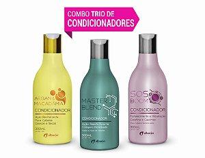 COMBO TRIO DE CONDICIONADORES 300ml (Argan + Colágeno + Creatina)
