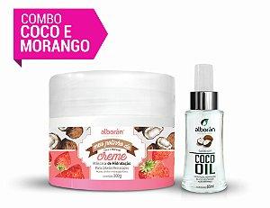 COMBO MORANGO E COCO (GANHE 01 Shampoo de Argan & Macadâmia 300ml)