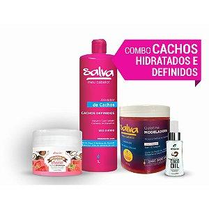 COMBO CACHOS HIDRATADOS E DEFINIDOS  (GANHE 01 Shampoo Argan & Macadâmia 300ml)