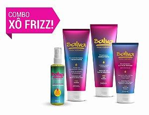 XÔ FRIZZ! (Shampoo e Condicionador 240ml + Máscara Líquida de Nutrição 100ml + Finalizador 200ml)