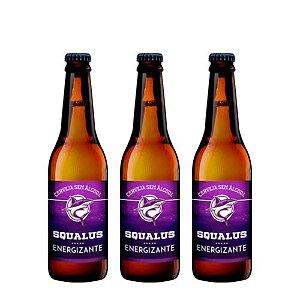 Lançamento - Cerveja Squalus Sem Álcool Energizante - 3 Un.