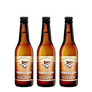 Lançamento - Cerveja Squalus Sem Álcool Golden - 3 Un. Long Neck 355ml - Argentina