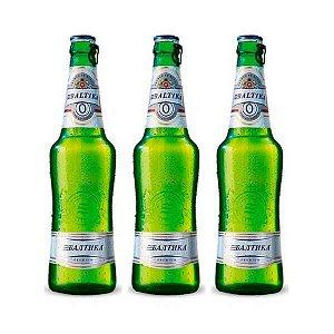 Combo de Cerveja Baltika Sem Álcool - 3 UN Long Neck 470 ml - Rússia
