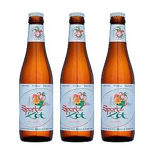 Combo de Cerveja Sem Álcool Brugse Zot Sport  - 3 UN Long Neck 330 ml - Bélgica