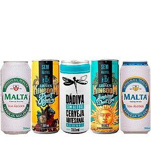 Kit de Cervejas Sem Álcool - As Brasileiras - 5 Unidades - Nacional
