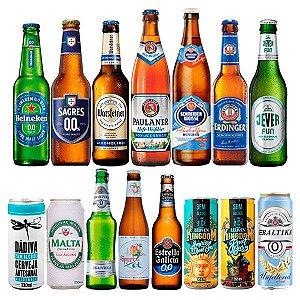 Kit de Cervejas Sem Álcool - Degustação - 14 unidades