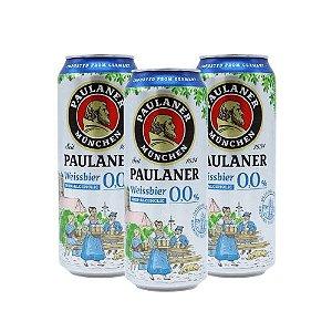 Combo de Cerveja Sem Álcool Pulaner Weissbier Alkoholfrei - 3UN Lata 500 ml - Alemanha