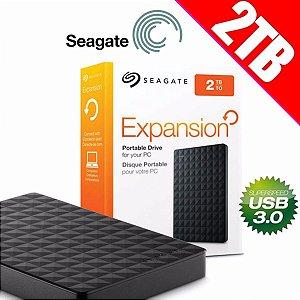 HD Seagate Externo Portátil Expansion USB 3.0 2TB Preto