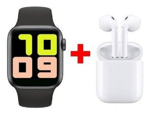 Relógio Inteligente Smartwatch + Fone Bluetooth