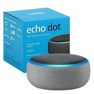 Echo Dot (3ª Geração): Smart Speaker com Alexa - Cor Preta