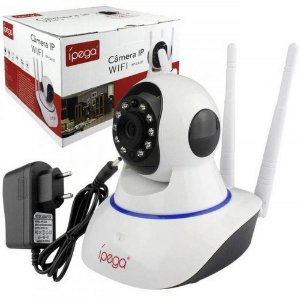 Camera Ip Wifi Segurança Ipega Hd 3 Antenas Android Ios