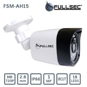 Câmera Bullet AHD 720p 18x leds 2.8mm Plástico FSM-AH15