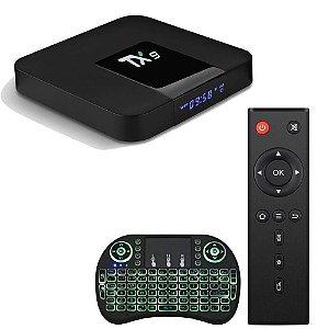 CONVERSOR SMART TV TX9 2GB RAM 16GB ROM ALICEUX +TECLADO COM LUZ