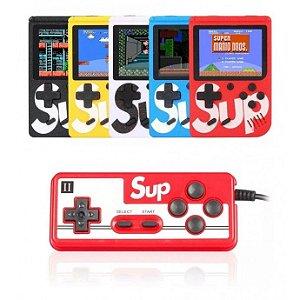 Mini Game Portátil 400 Jogos Super Console Controle Retro 4 EM 1 Duplo Play
