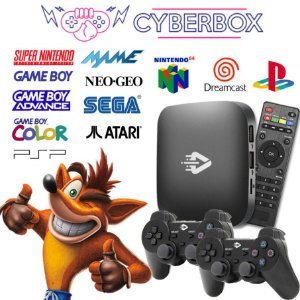 Cyber Box Video Game Retro Multijogos 32GB 2 Controles S/ Fio