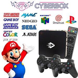 CYBER BOX VIDEO GAME RETRO MULTIJOGOS 16GB 2 CONTROLES S/ FIO