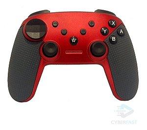 Controle Switch Pro Controller Original Feir Sem Fio Vermelho