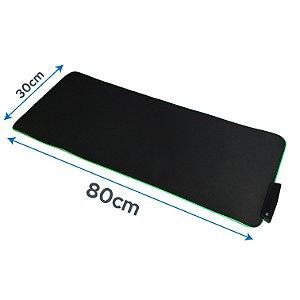 Mouse Pad Gamer Grande 80 X 30 Cm Iluminado Led Rgb Rainbow