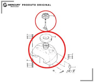 TANQUE DE COMBUSTÍVEL MERCURY 4 / 5HP