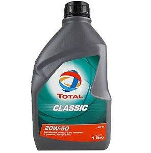 ÓLEO TOTAL CLASSIC GASOLINA 20W-50 1L