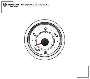 RELÓGIO NÍVEL DE COMBUSTÍVEL BRANCO 79 MERCURY (ACOMPANHA ARO BRANCO FRONTAL)