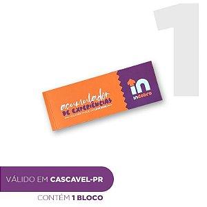 CASCAVEL - Bloco composto por vouchers pague 1 e leve dois