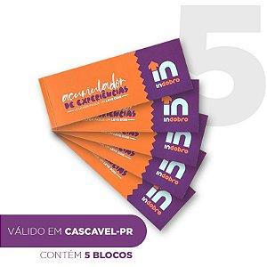 Kit 5 - CASCAVEL - Bloco composto por vouchers pague 1 e leve dois