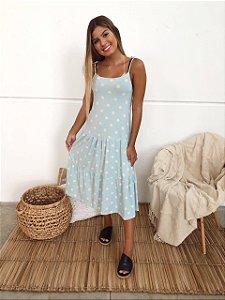 Vestido Amalfi Poa Azul
