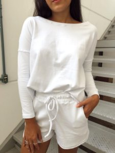 Blusão Parma em Molecotinho Branco