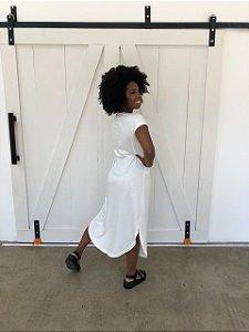 Vestido Midi Ecológico Off White