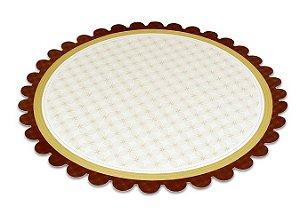 PD210 - 5 unid -  Pratos reforçados para bolo e tortas 21 cm