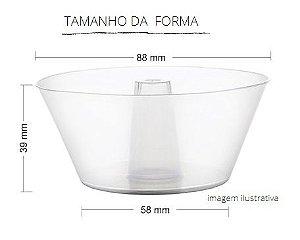 PW33/TWH - 120 unid - Forma Forneável Pudim 150 ml com tampa pet