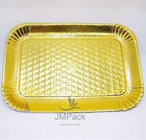 PD216AD - 1 unid - Pratos Dourados Reforçados para bolos e tortas de 1 kg