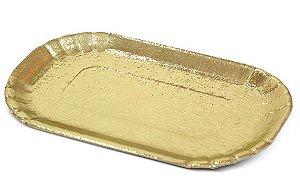 PD106 -400 unid - Pratinho retangular dourado para Eclair