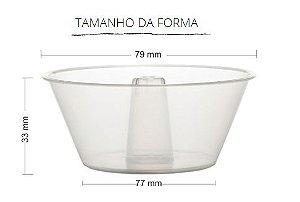 PW61/TWH - 10 unid - Pudim 90 ml forneavel  com tampa Pet GRANEL